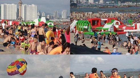 Biển Hạ Long ken đặc người đến giải nhiệt ngày nóng