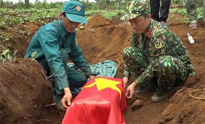 Đắk Nông quy tập 10 hài cốt liệt sĩ tại xã Quảng Tâm