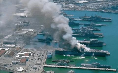 Lộ tình tiết điều tra mới vụ siêu tàu đổ bộ Mỹ bốc cháy kinh hoàng: Đốt phá có chủ đích?