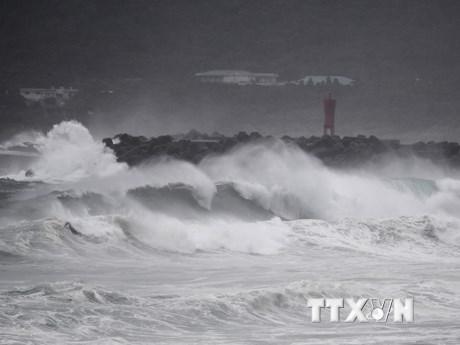 Hình ảnh bão Haishen càn quét qua phía Nam Hàn Quốc