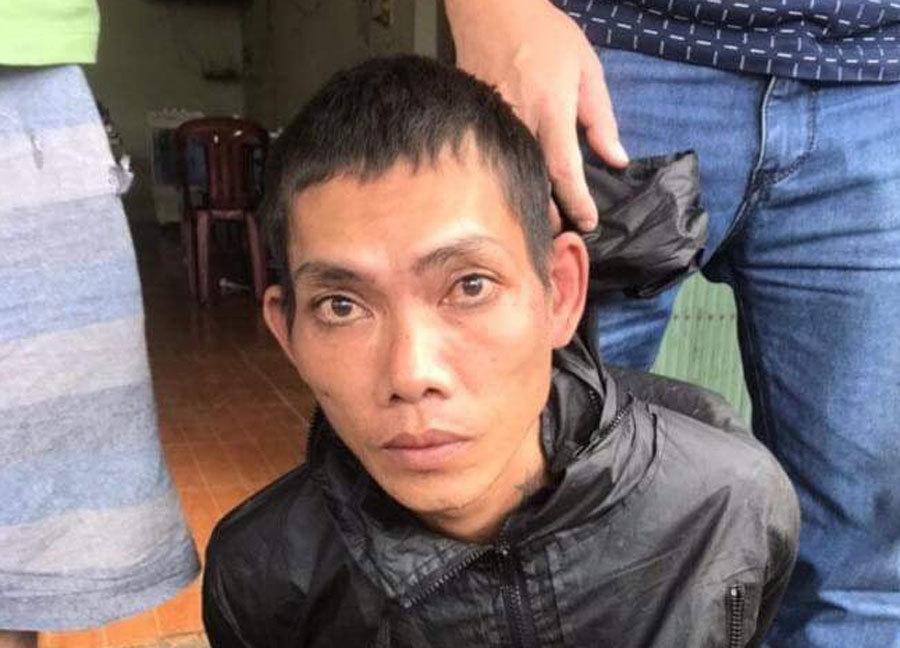 Phạm nhân Nguyễn Văn Dẻ bị bắt khi đang lẩn trốn. Ảnh: SBC Bình Thuận