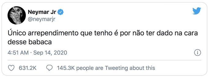 Neymar đăng Twitter về sự cố và tiếc không đánh vào mặt Alvaro Gonzalez