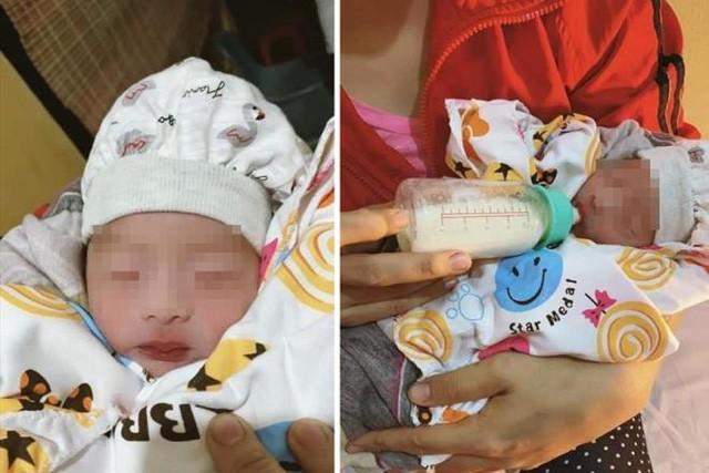 Bé trai sơ sinh bị bỏ rơi dưới trời mưa tầm tã ở Sóc Sơn đang được chăm sóc sức khỏe (ảnh VTC)