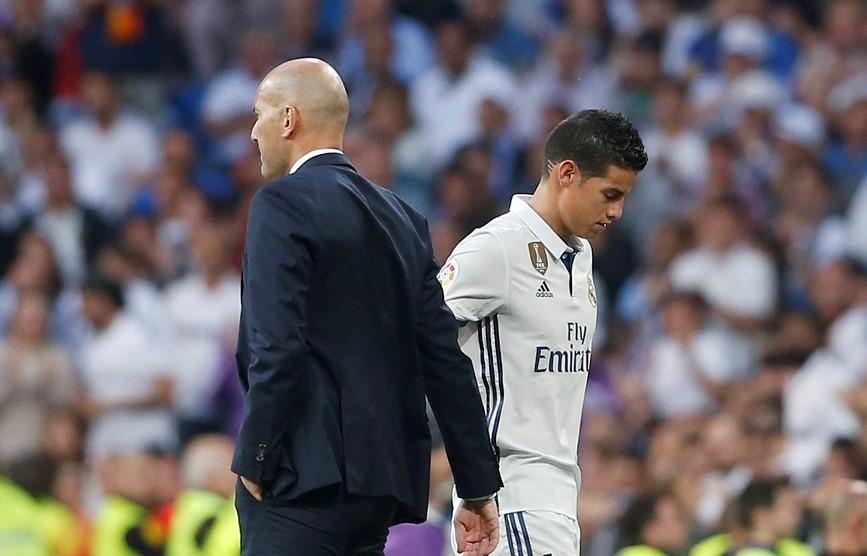 Zidane hiếm khi sử dụng James Rodriguez