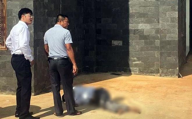 Nạn nhân Lương Hữu Phước sau khi nhảy từ lầu 2 TAND tỉnh Bình Phước tự sát chiều ngày 29/5. Ảnh: Công an nhân dân