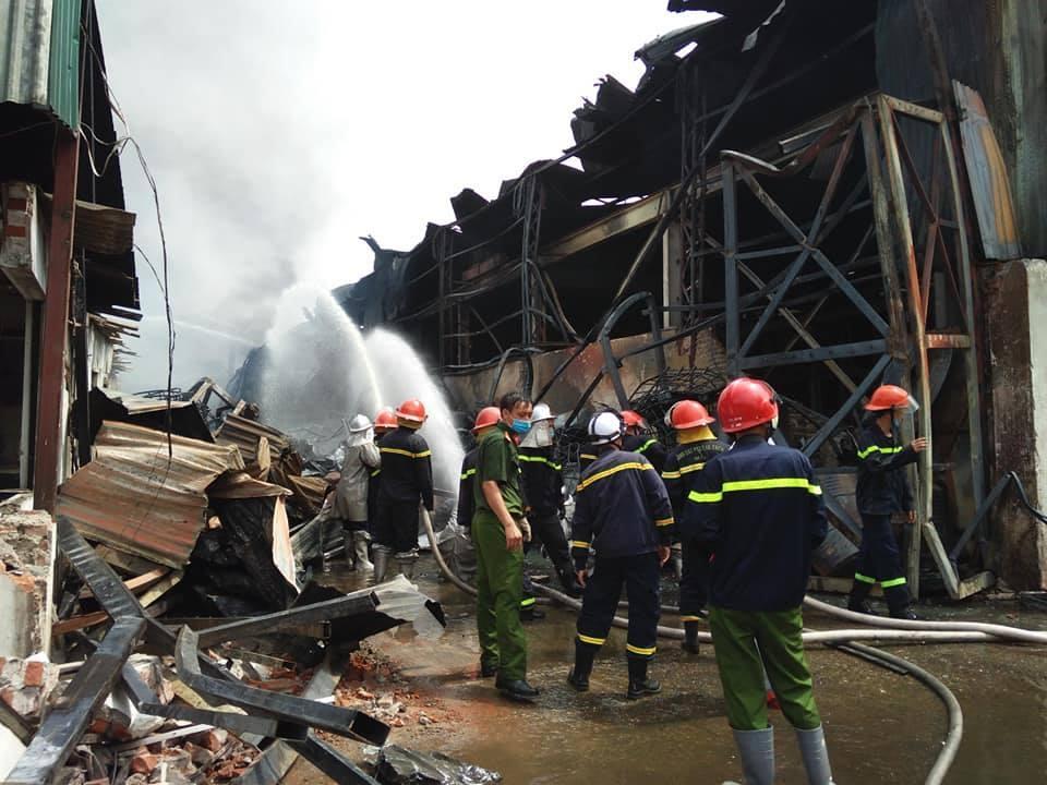 Khu vực xảy ra vụ cháy.
