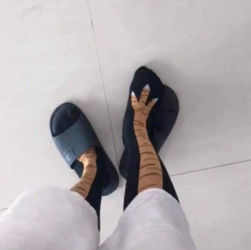 Đôi tất chân hình chân gà nhận về nhiều sự chú ý