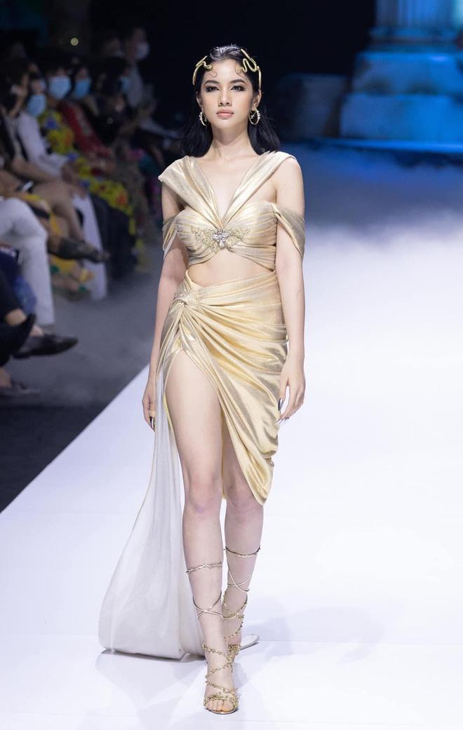 Sau cuộc thi Hoa hậu, Cẩm Đan được nhiều NTK săn đón và trở thành gương mặt quen thuộc trên các sàn diễn thời trang