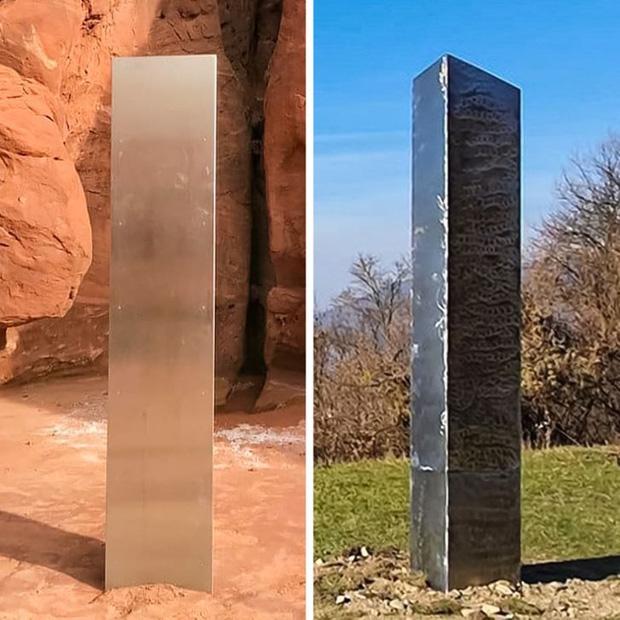 Những khối kim loại bí ẩn xuất hiện ở Mỹ và Romania