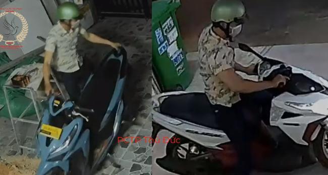 Hình ảnh nam thanh niên 'nhảy' 2 chiếc xe trong chớp mắt
