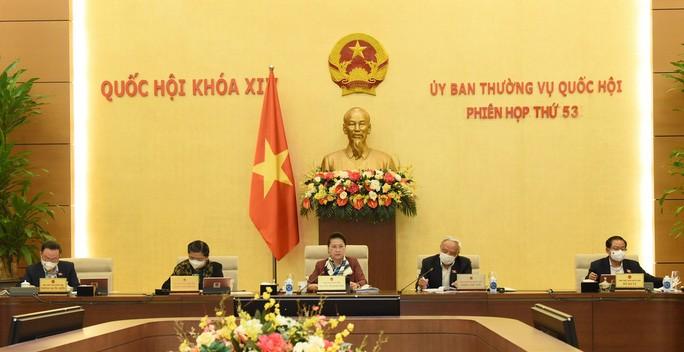 Phiên họp thứ 53 của Uỷ ban Thường vụ Quốc hội - Ảnh: Quochoi.vn