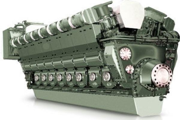 Động cơ diesel SEMT Pielstick 12PA6V280 STC2. Ảnh: Rrmarinetech