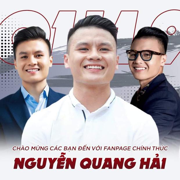 Quang Hải thông báo lập fanpage mới