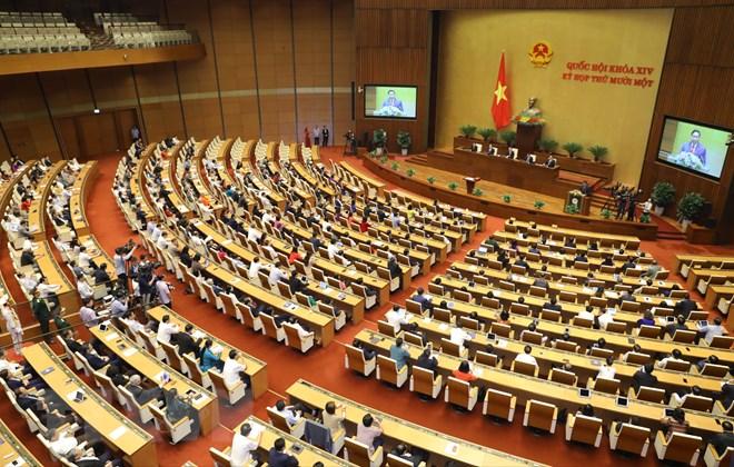 Quốc hội nghe Thủ tướng Chính phủ Phạm Minh Chính phát biểu nhậm chức. (Ảnh: Văn Điệp/TTXVN)