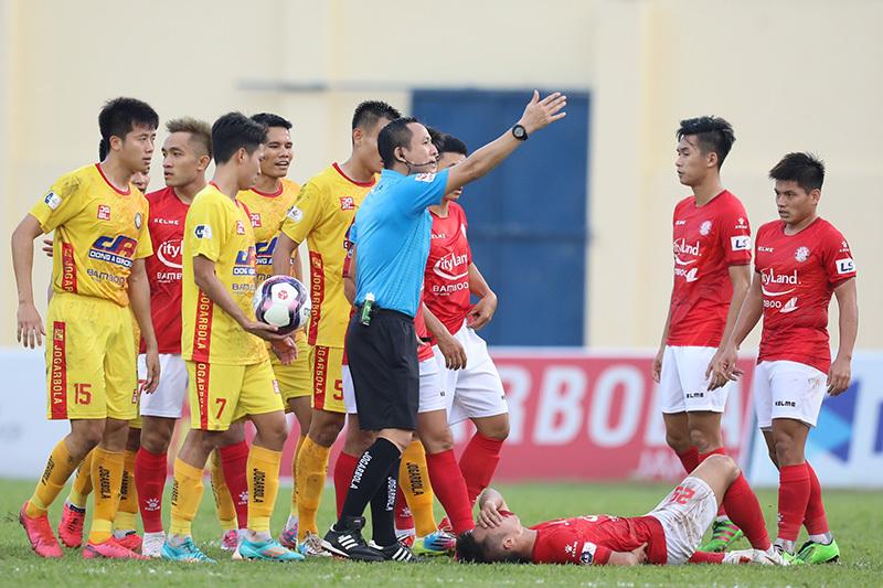Trận Thanh Hoá vs TPHCM rất căng thẳng