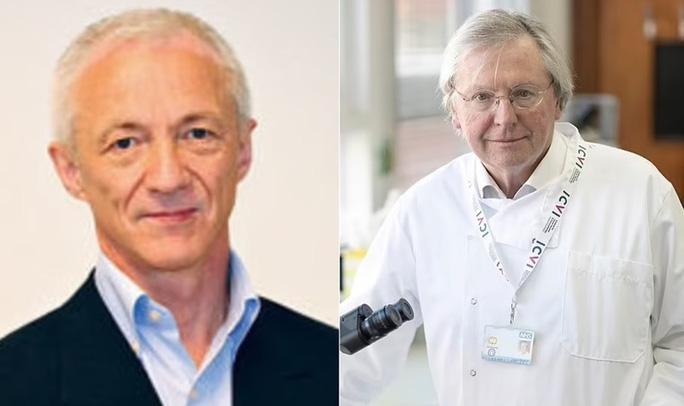 Ông Birger Sørensen và ông Angus Dalgleish khẳng định họ có bằng chứng SARS-CoV-2 xuất phát từ phòng thí nghiệm Trung Quốc. Ảnh Daily Mail