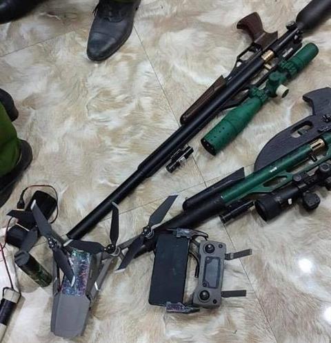 Số tang vật súng, đạn công an thu giữ