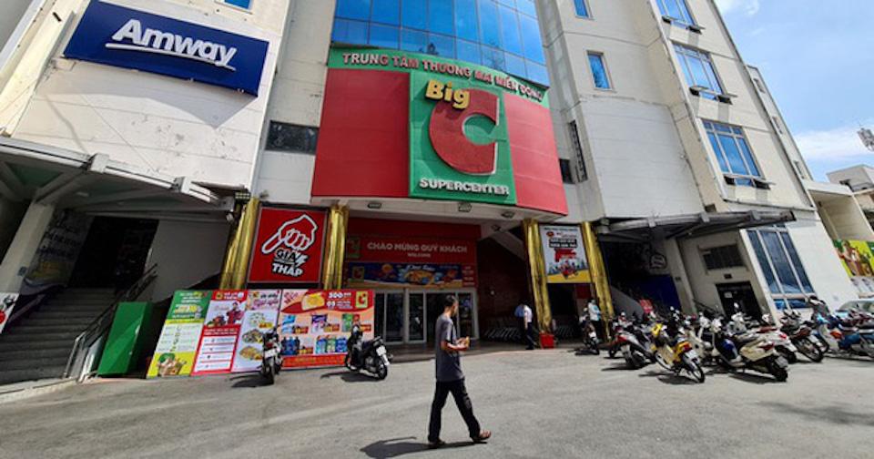 Siêu thị Big C ở đường Tố Hiến Thành, phường 15, quận 10 (TP Hồ Chí Minh) đang tạm thời đóng cửa vì liên quan Covid-19