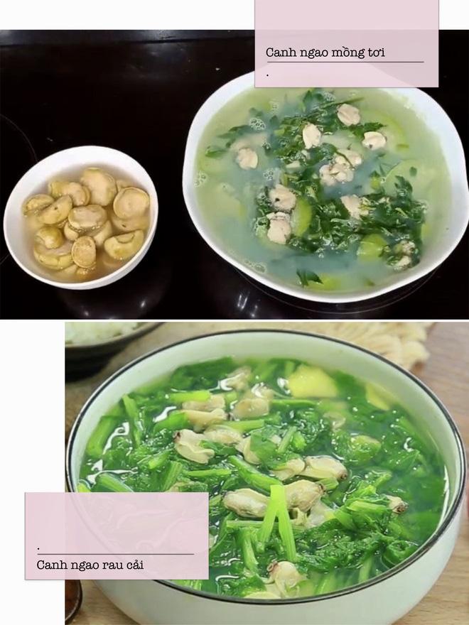 Sự khác biệt khi làm món canh ngao nấu chua và canh ngao nấu rau
