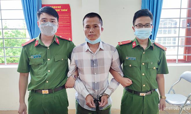 Đối tượng Hoàng Bá Tước bị Công an huyện Điện Biên bắt giữ.