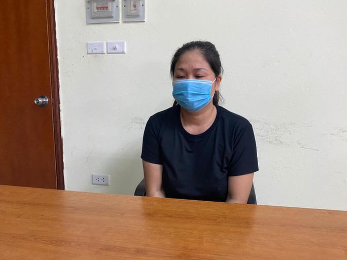 Bị can Nguyễn Thị Lợi ở cơ quan công an - Ảnh: Công an cung cấp