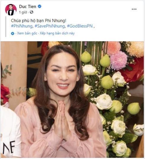 Cựu người mẫu Đức Tiến cầu nguyện cho Phi Nhung.