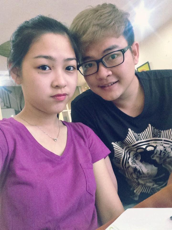 Nguyễn Minh Cường và vợ 11 năm trước.