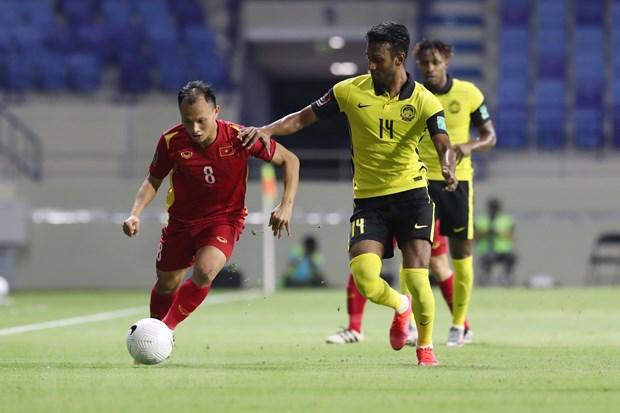 Trọng Hoảng bỏ ngỏ khả năng ra sân thi đấu cho tuyển Việt Nam ở trận gặp Trung Quốc và Oman. (Ảnh: TTXVN)