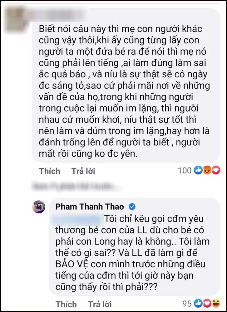 Phạm Thanh Thảo đáp trả cư dân mạng khi bị nói xen vào chuyện gia đình người khác quá nhiều