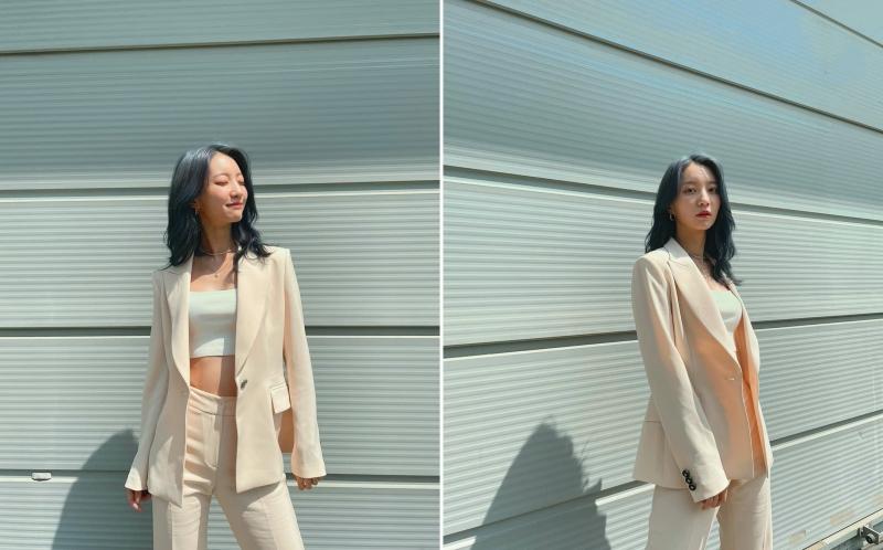 Mix với áo quây như Binnie là 1 ý tưởng hay để 'trẻ hóa' set áo vest + quần âu.