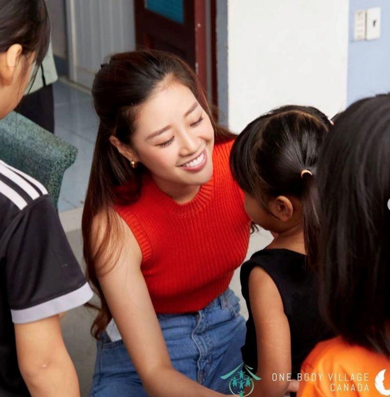 Khánh Vân được đánh giá cao bởi dự án One Body Village - giúp đỡ trẻ em bị xâm hại tình dục.