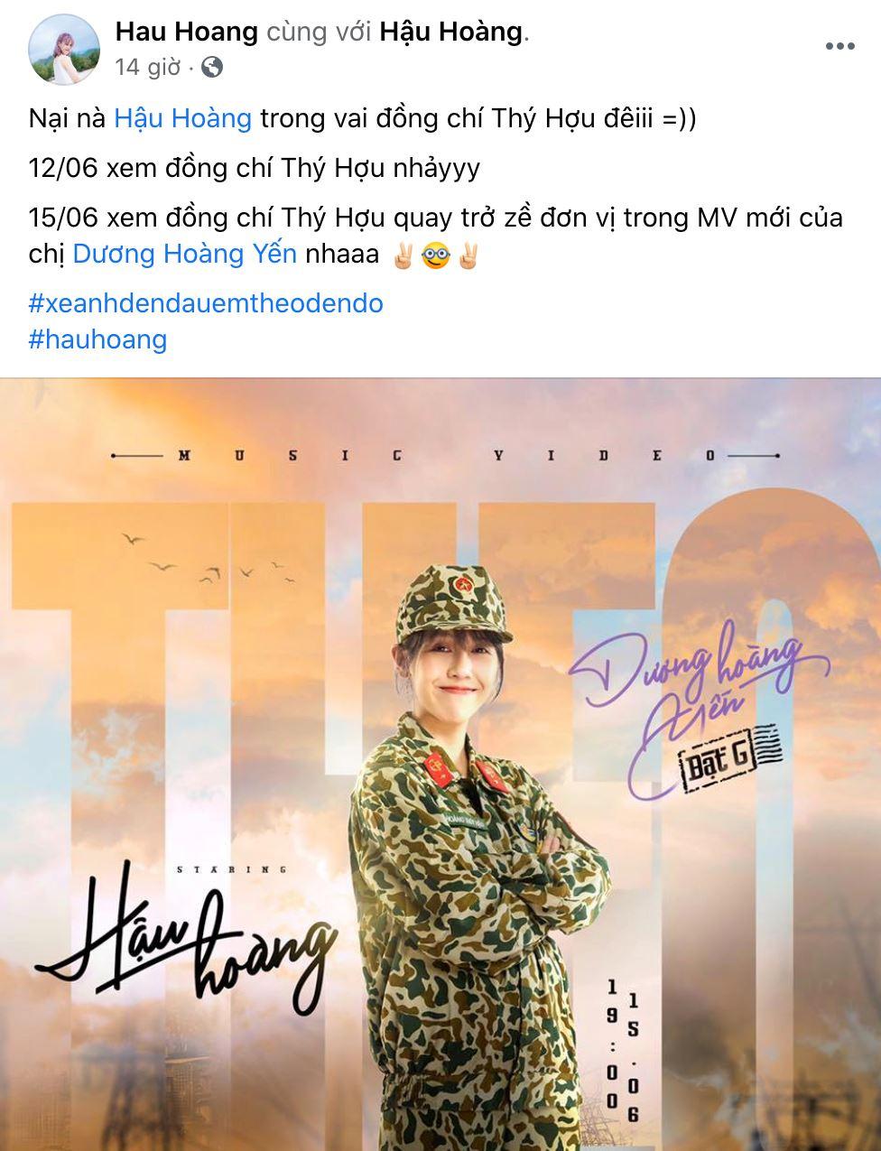 HOT: Hậu Hoàng và Mũi trưởng Long 'gây sốt' khi xác nhận cùng đóng MV của Dương Hoàng Yến 1