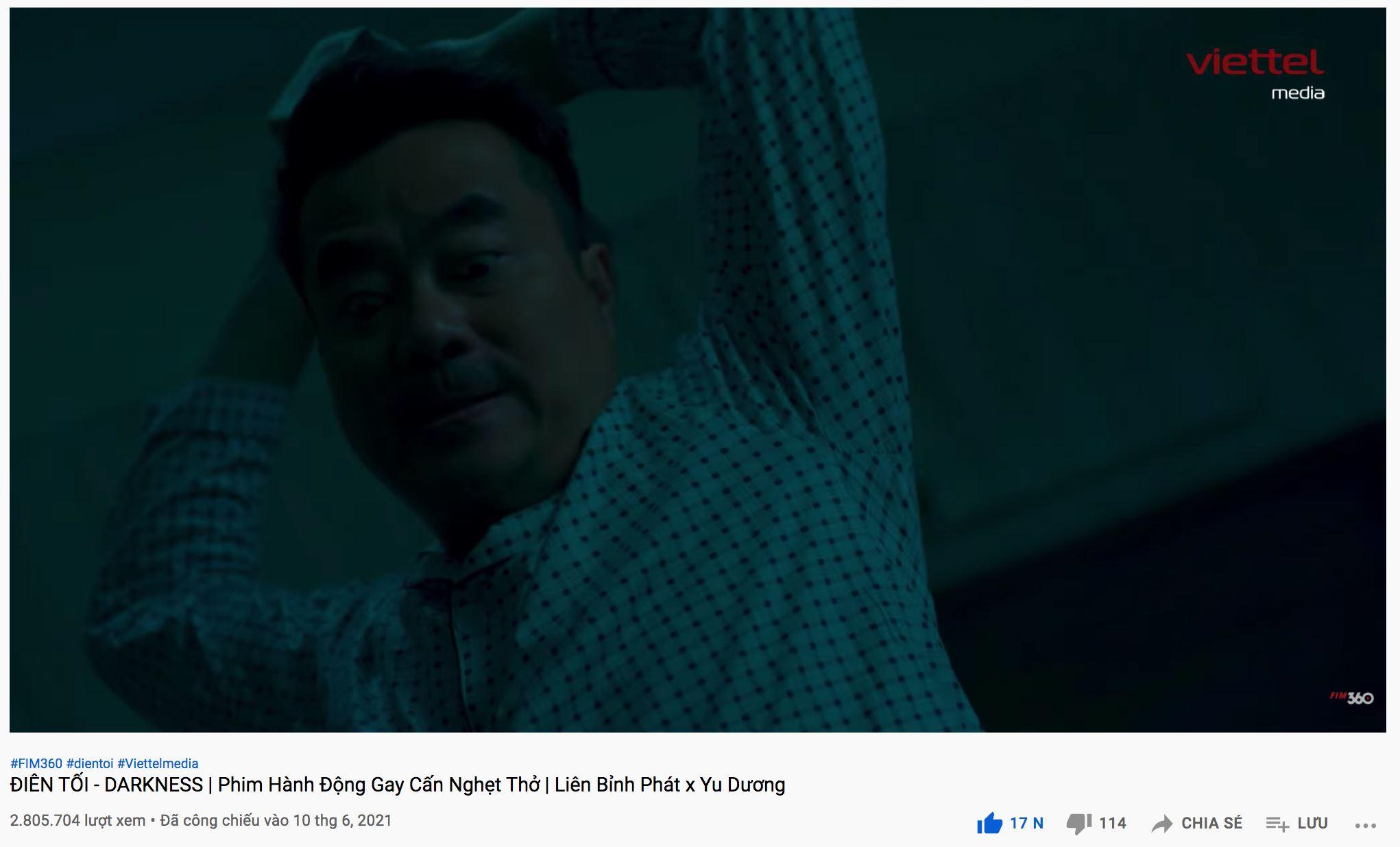 Trên nền tảng Youtube, Điên Tối đã đạt được hơn 2.8 triệu lượt xem
