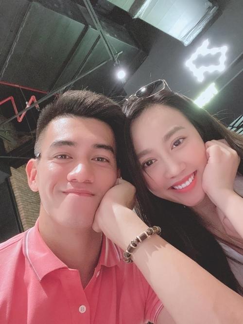 Tiến Linh và Huỳnh Hồng Loan từng có khoảng thời gian ngọt ngào bên nhau.
