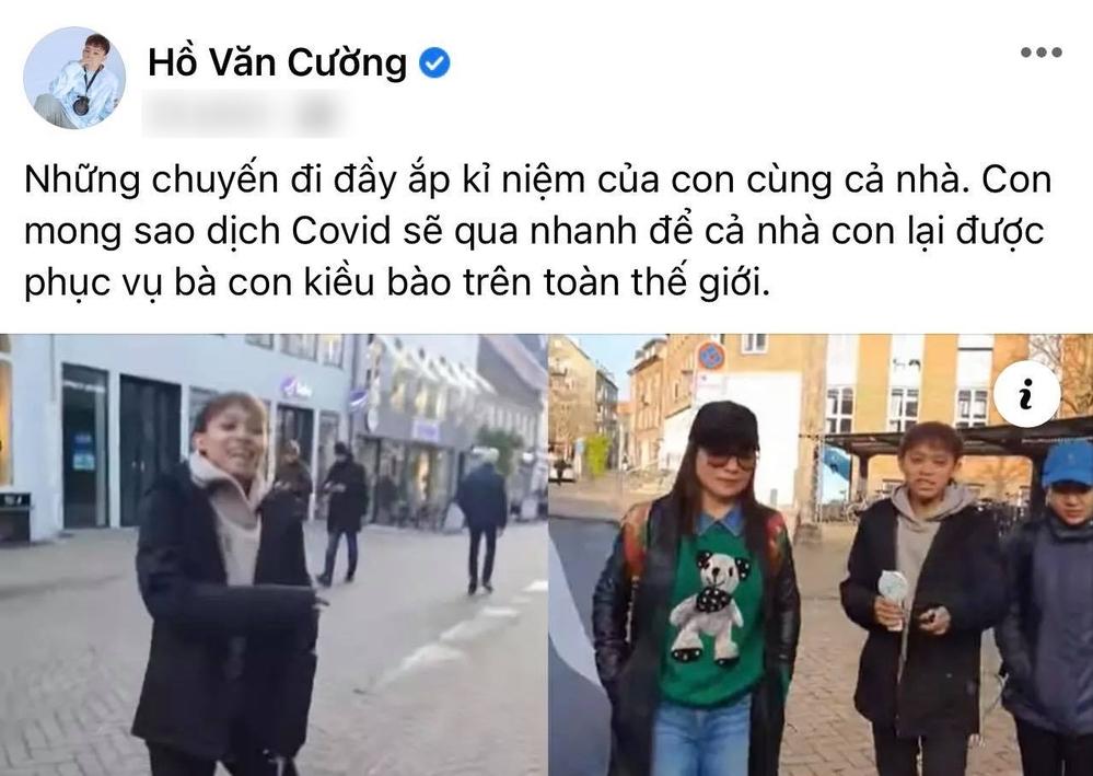 Bài đăng của Hồ Văn Cường trên fanpage.
