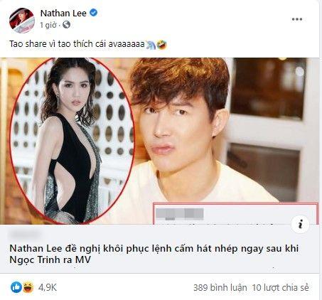 Nathan Lee khẩn thiết yêu cầu ban hành lại quy định cấm hát nhép, trực tiếp 'cà khịa' màn debut của Ngọc Trinh? 1