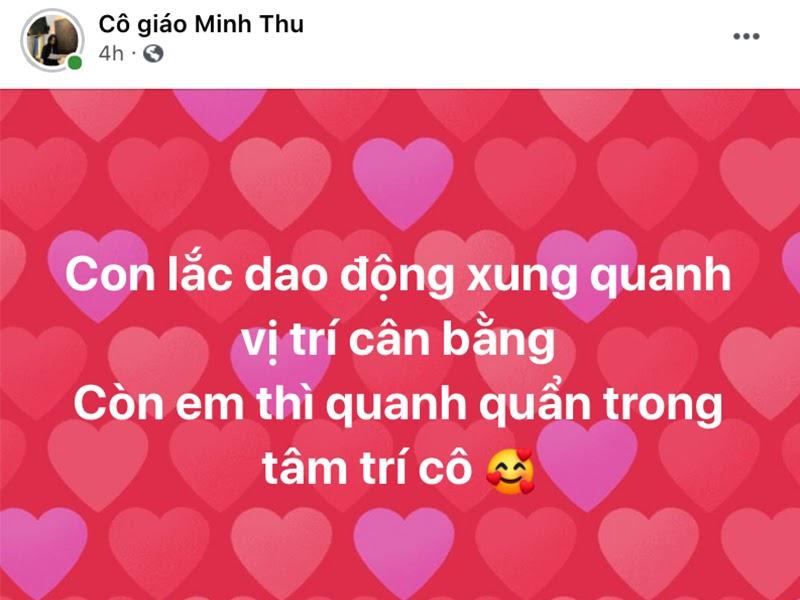 Cô giáo Minh Thu tích cực thả thính