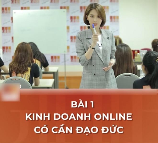 Bài học đầu tiên mà cô nàng muốn truyền tải đó là về đạo đức trong kinh doanh online.