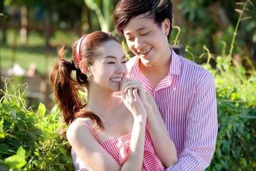 Minh Hằng cùng Lương Mạnh Hải khi tham gia bộ phim Ngôi nhà hạnh phúc