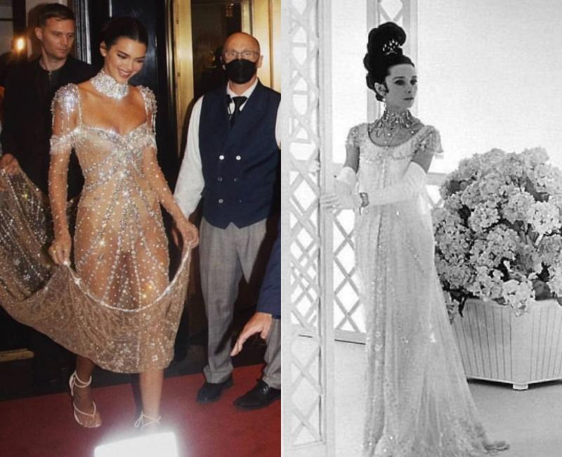 Bộ cánh cô nàng mặc được lấy cảm hứng từ trang phục củangôi sao điện ảnh nổi tiếng thập niên 1950, 1960 -Audrey Hepburn.