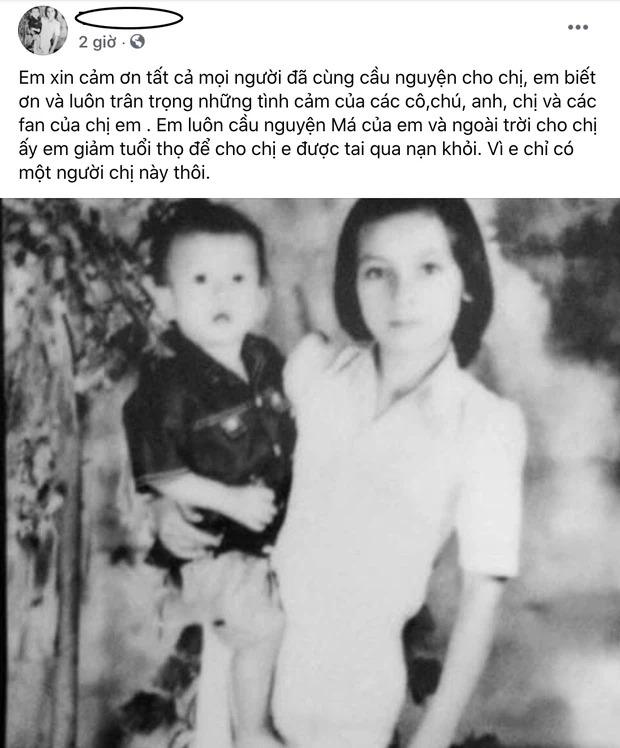 Bài đăng của em trai Phi Nhung.