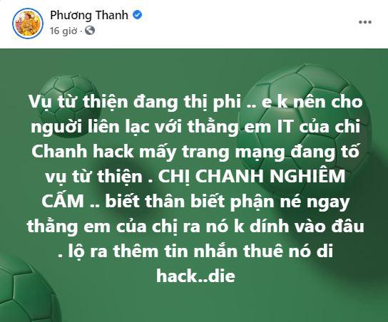 Dòng trạng tháicủa Phương Thanh.