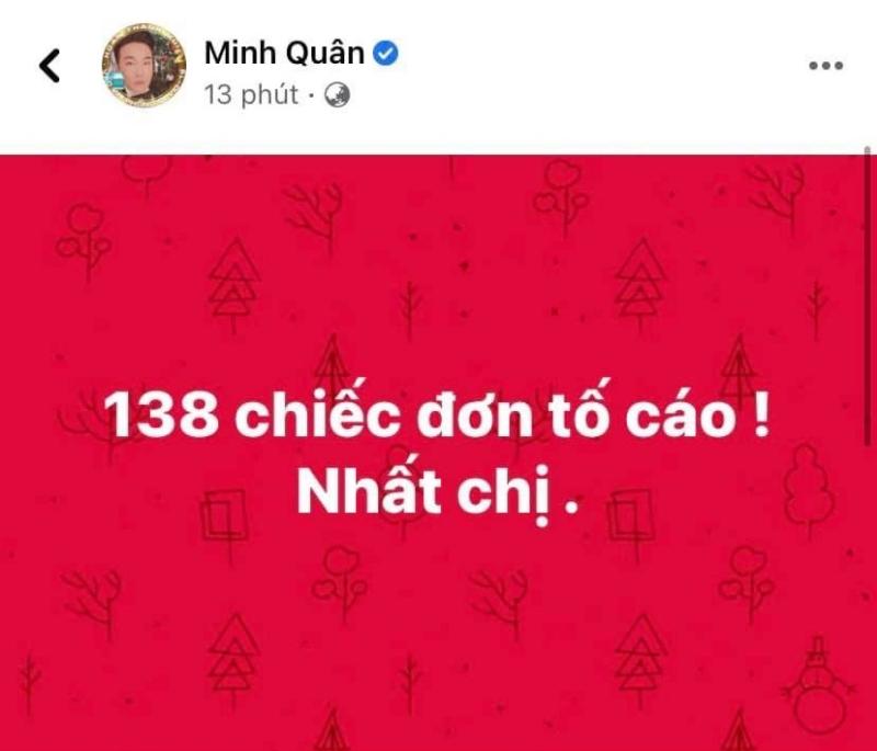 Bài đăng gây xôn xao của ca sĩ Minh Quân.