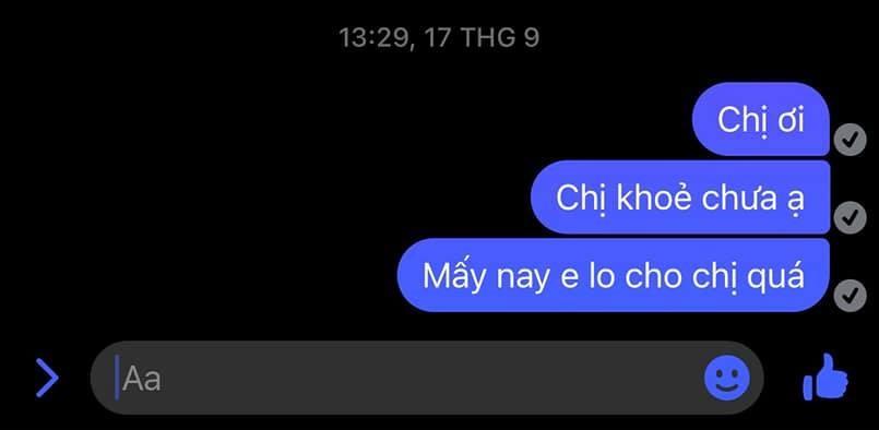 Dòng tin nhắn không được hồi đáp...