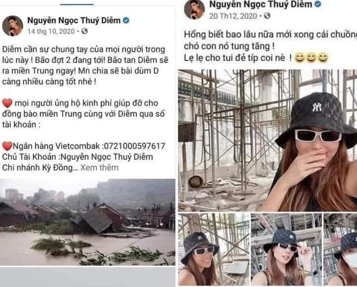 Giữa ồn ào tiền từ thiện, Thúy Diễm bị netizen soi kêu gọi quyên góp tháng 10, tháng 12 xây nhà? 0