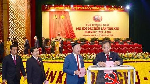 52 đồng chí trúng cử vào Ban Chấp hành Đảng bộ tỉnh Hải Dương khóa XVII