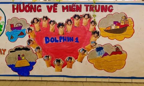 Trường mầm non Vạn An gây quỹ ủng hộ đồng bào miền Trung