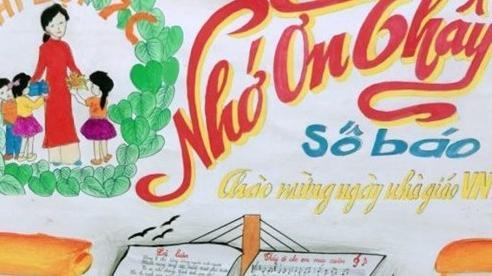 5 điều cơ bản khi làm báo tường nhân dịp Ngày Nhà giáo Việt Nam 20/11
