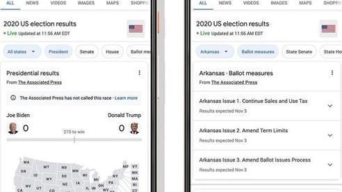 Những cách cập nhật kết quả bầu cử Tổng thống Mỹ trên mạng