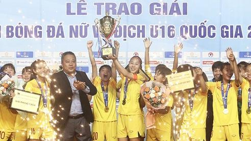 Dự tuyển U16 Quốc gia lên ngôi vô địch